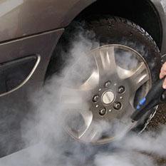 Limpieza de vehículos con vapor