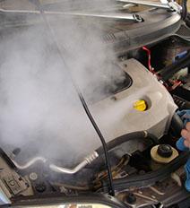 Limpieza de motores con vapor profesinonal